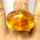 18K EVANUEVA CITRINE CABOCHON RIGHT HAND FASHION CONTEMPORARY RING from ITALY