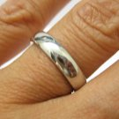 4 MM SOLID PLATINUM PLAIN WEDDING BAND RING SIZE 6 COMFORT FIT WARRANTY