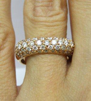 1.55CT PAVE DIAMOND ROSE GOLD WEDDING ANNIVERSARY BAND RING