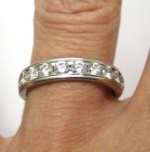 1.00CT SOLID PLATINUM DIAMOND WEDDING ANNIVERSARY BAND RING COMFORT FIT