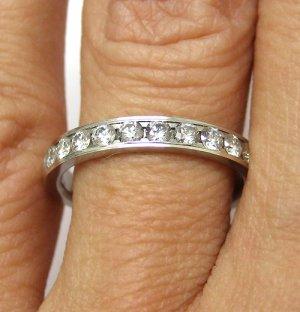 0.50CT PLATINUM ROUND CUT DIAMOND WEDDING ANNIVERSARY BAND RING COMFORT FIT