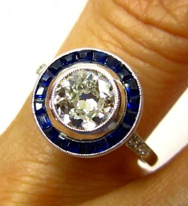 2.01CT ART DECO ANTIQUE VINTAGE SOLITAIRE DIAMOND ENGAGEMENT WEDDING RING EGL