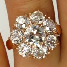 4.52CT ANTIQUE VINTAGE DIAMOND CLUSTER ENGAGEMENT WEDDING RING EGL USA ROSE GOLD