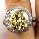7.24CT VINTAGE ESTATE FANCY YELLOW DIAMOND ENGAGEMENT WEDDING RING EGL USA PLAT
