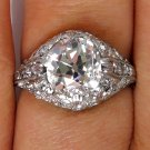 2.32CT ANTIQUE VINTAGE EDWARDIAN OLD CUSHION DIAMOND ENGAGEMENT WEDDING RING EGL