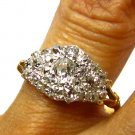 1.35CT ANTIQUE VINTAGE OLD MINE DIAMOND CLUSTER ENGAGEMENT WEDDING BAND RING