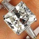 5.09CT VINTAGE ESTATE SQUARE RADIANT DIAMOND ENGAGEMENT WEDDING RING EGL USA PLA