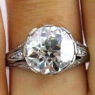 3.80CT ANTIQUE VINTAGE OLD EURO EDIAMOND ENGAGEMENT WEDDING RING EGL USA PLAT