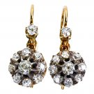 2.30CT ANTIQUE VINTAGE VICTORIAN DIAMOND DROP HANGING DANGLE EARRINGS CERTIFIED