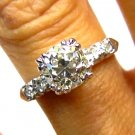 1.26CT ART DECO ANTIQUE VINTAGE DIAMOND ENGAGEMENT WEDDING RING EGL USA PLATINUM