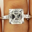 4.35CT ESTATE VINTAGE ASSCHER CUT DIAMOND ENGAGEMENT WEDDING RING PLAT EGL USA