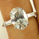 GIA 2.27CT ESTATE VINTAGE OVAL DIAMOND SOLITAIRE ENGAGEMENT WEDDING RING 14K WG