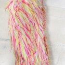White/Pink/Green Wispies Faux Fur Boot Top Leg Warmers (sl1043)