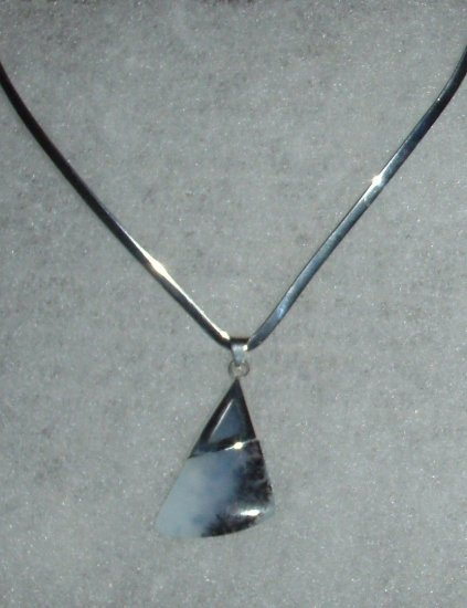 Silver .950  Andean Opal Pendant