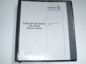 Varian Triscroll 600 dry scroll vacuum pump manual
