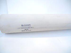"""Mc Danel Mullite Tube 2.050"""" dia x 1.810"""" id. high temperature"""