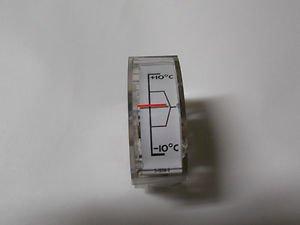Emco Edgewise panel meter + 10 deg. C , - 10 deg. C