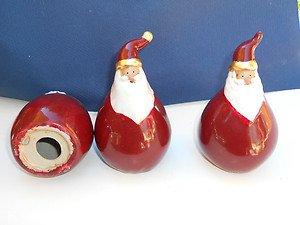 "LOT 54 Ceramic Santa's red glaze 5 1/2"" tall"