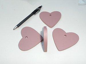 Lot 100 wooden hearts purple