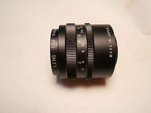ITV Lens 1: , 1.8  , f = 25 mm