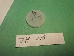 "NSF - 4 optical glass 1.050"" X  .170""  Thick"