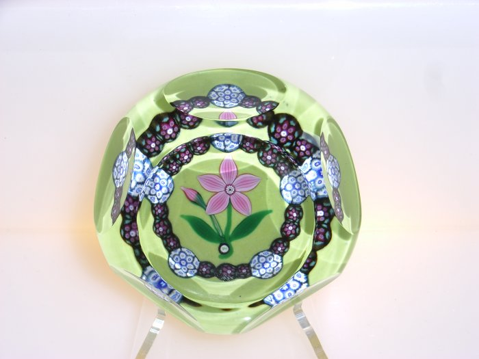 Signed Peter  Holmes  Traditional Lampwork Millefiori Paperweight