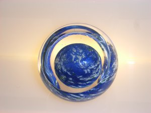 Signed Andrew  Holmes  Abstract The World  Paperweight