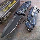 Tac-force Blue Black Grey Camo Glass Breaker Rescue Knife