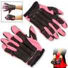 Takedown Gear Pink & Black Police SAP Gloves Steel Shot Knuckles Full Length XL