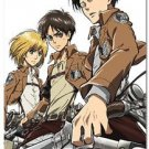 Fabric Poster: Attack on Titan - Armin, Eren, Levi Key Art (Wall Art)