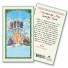 Novena to the Most Powerful Hand Laminated Card