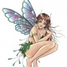 """FAIRY LEAVES Decal Artwork by DELPHINE LEVESQUE DEMERS - JUMBO 10"""" STICKER"""