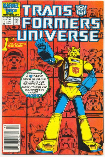 Transformers Universe #1 HTF 1987 Marvel Comic Series