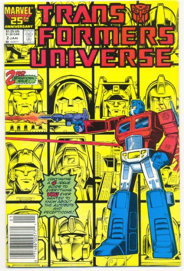 Transformers Universe #2 HTF 1987 Marvel Comic Series