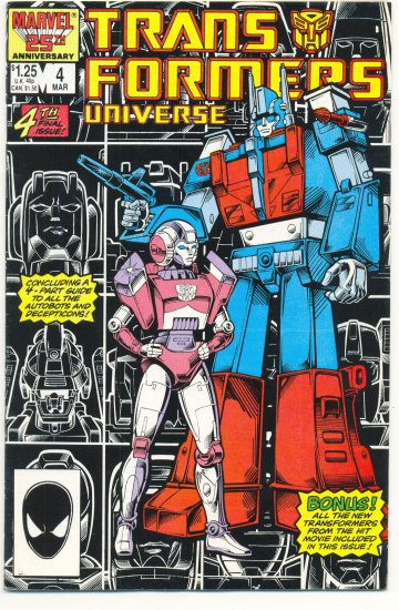 Transformers Universe #4 HTF 1987 Marvel Comic Series