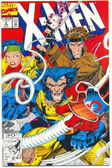 X-Men #4 1st App Omega Red Jim Lee Art VF/NM