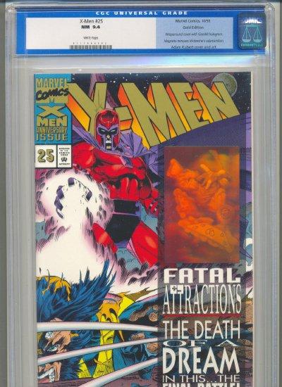 X-Men #25 Gold Variant CGC Graded 9.4 NM White