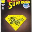 Adventures Of Superman #501 Signed By Hazlewood