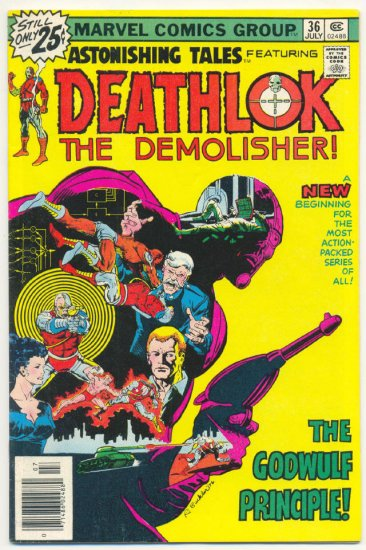 Astonishing Tales #36 Deathlok The Demolisher HTF Last Issue!