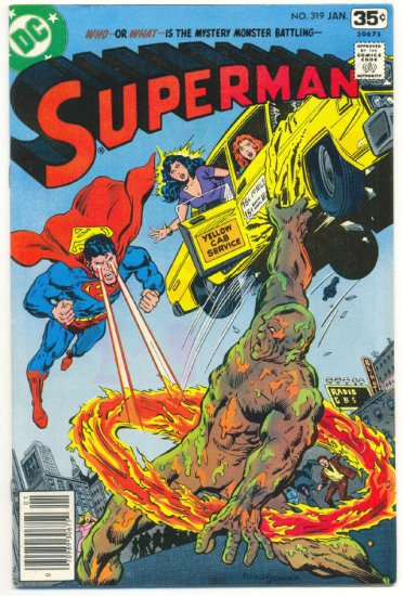 Superman #319 The Marshland Monster Swan Art 1978