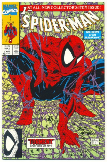 Spider-Man #1 1990 Torment McFarlane Green Cover NM !