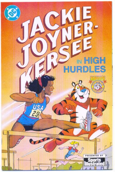 Jackie Joyner-Kersee High Hurdles DC Promo Comic Sports Illustrated HTF!
