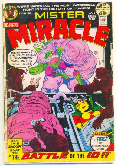 Mister Miracle #8 Battle Of The ID 1972 Jack Kirby Classic !