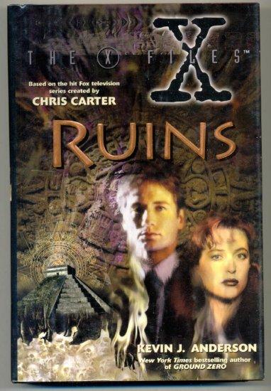 X-Files Ruins Hardcover w/ DJ Harper Collins 1996 1st Print