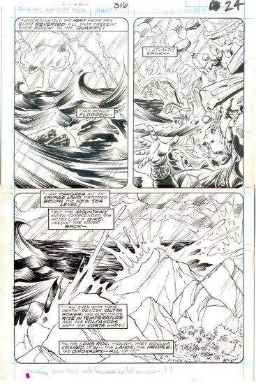 Fantastic Four #316 Pg 24 Joe Sinnott Original Art Death Of Atlantis!