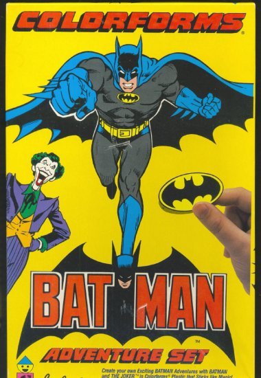 Batman Colorforms Adventure Set HTF 1989 !