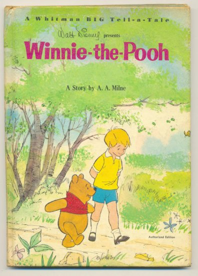 Winnie-The-Pooh Whitman Tell-A-Tale Hardcover Classic 1965 !