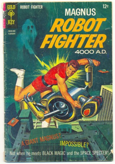 Magnus Robot Fighter #21 Gold Key 1968 Russ Manning Art !