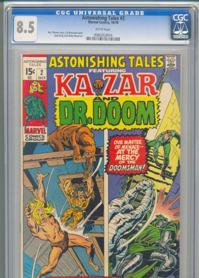 Astonishing Tales #2 KIrby & Wood Art CGC 8.5 1970 !