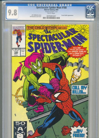 Spectacular Spider-Man #180 vs Green Goblin CGC 9.8 Highest Graded!